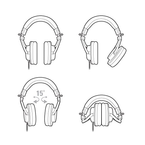 Audio Technica ATH-M30X DJ-Kopfhörer für Studio - 5