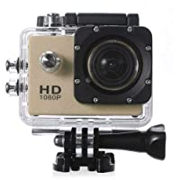 Waterproof Full HD 12MP CMOS H.264 Sports Action 1080p DV Camera DVR Golden