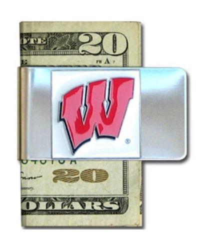 Siskiyou NCAA Geldklammer aus Stahl, Herren, Wisconsin Badgers, Einheitsgröße