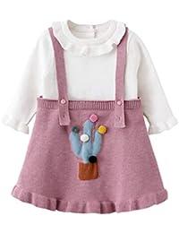 QSEFT Ropa para Niñas Bebés Conjuntos De Ropa Vestidos Princesa Vestido  para Niños Fiesta De Niños e5d4fd78879