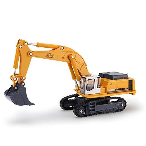 Hobabld Kinder Fahrzeuge Geschenkset Spielzeugautos Verfolgen Bagger 1:87 Legierung Spielzeug Bagger Vorne Drehbar Modell Baufahrzeug
