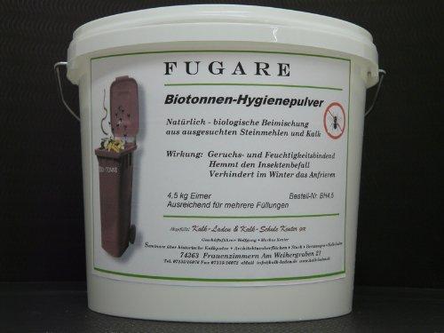 """Biotonnen-Hygienepulver """"Fugare"""". Natürlich-biologische Zugabe. 4,5kg Vorrats-Eimer."""