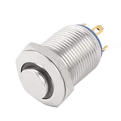 SeaStart Schalter, Druckschalter, LED-Lampe, grün, SPST, 12 mm, Montage auf Bedienfeld, Metall, Momane - Schalter Spst-relais