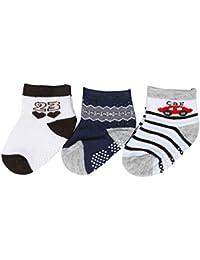 9f7477058b3c Cute Kids Anklet Soft Cotton Unisex Winter Summer Socks Set of Baby Boys  and Girls (6-12 Months) Infant Toddler…