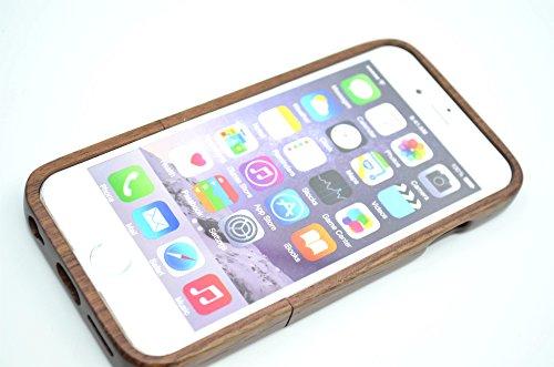RoseFlower® Coque iPhone 6 Plus 5.5'' en Bois Véritable - Compas de palissandre - Fabriqué à la main en Bois / Bambou Naturel Housse / Étui avec Gratuits Film de Protecteur Écran pour votre Smartphone Boussolenoyer