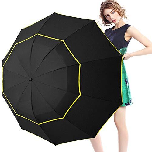 SWFVB Sonnenschirm 130 cm Big Top Regenschirm Regen Frau Winddicht Große FrauenMännliche Frauen Sonne 3 Klapp Großen Regenschirm Für Mann -