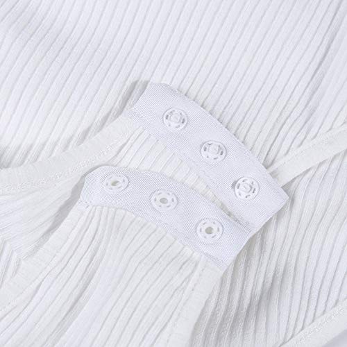FIRSS-BH Damen Bodysuit Kurzarm Bodys Tops Rompers Perspektive Jumpsuit Overalls Rundhals Playsuit Elegant Strampler Basic Kurzarm-Body Unterwäsche Outfit Babydoll Bluse M - 5