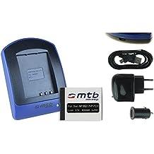 Batteria + Caricabatteria (USB/Auto/Corrente) per Sony NP-BD1 / Cyber-shot DSC-TX1 T300 T700 T900... - v. lista