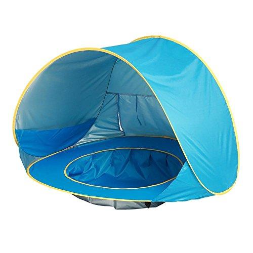 Occitop Baby Kinder Strandzelt Pop Up Tragbarer Sonnenschutz Pool UV-Schutz Sonnenschutz Kampagnenladen für Kinder/Spielhaus