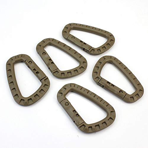 5X Kunststoff D Form Karabiner Schnallen Für Outdoor Camping Wasserflasche Schlüsselanhänger Nützlich und Praktisch Carry Stone