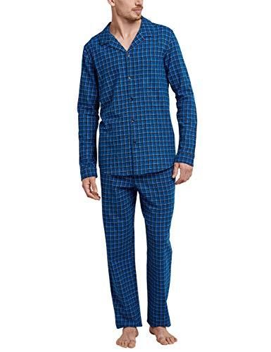 Schiesser Herren Pyjama lang Zweiteiliger Schlafanzug, Blau (Royal 1 819), X-Large (Herstellergröße: 054)