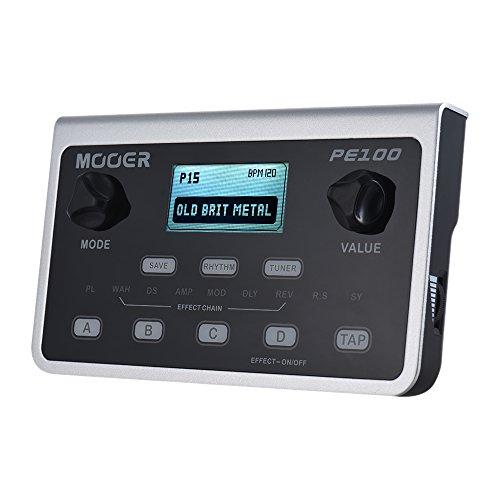 Muslady MOOER PE100 Procesador Multiefectos Portátil