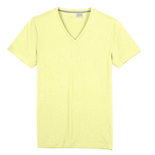 R Edition Mann Tshirt, Uni,Vausschnitt Gelb