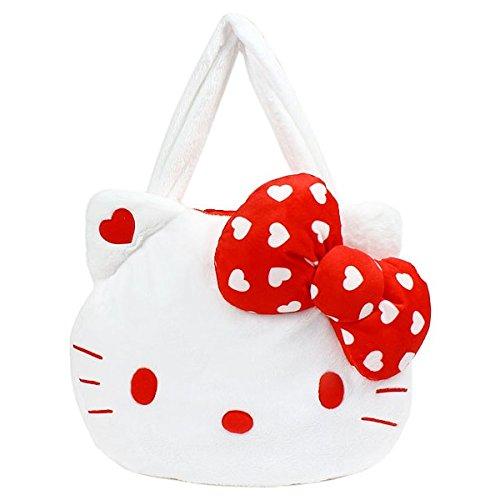 Sanrio Hello Kitty Face Form Tasche Weiß & Rot D4253214-752