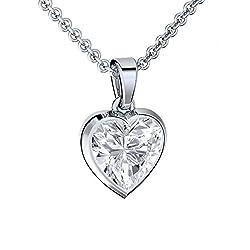 Amoonic Geschenke für Freundin *GRATIS Premium ETUI* Halskette Herz Geschenk für Frauen Valentinstag Liebe Echt Schmuck-Set Silber 925 Damen-Kette Geschenkideen für die Frau Ehefrau
