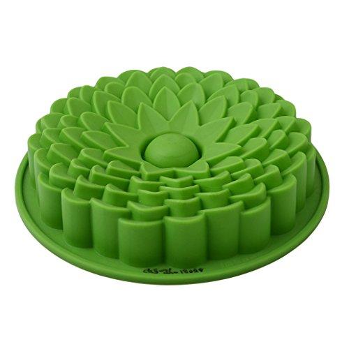 Chinget Grüner Silikon Sonnenblume Schokolade Fondant Form Kuchen Form Pudding Gelee EIS Würfel Form Kuchen Dekor DIY Backen Werkzeug