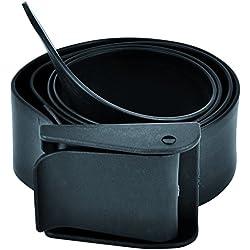 Best Divers bh0078N ceinture caoutchouc, porte plombs sub, boucle Nylon, Noir