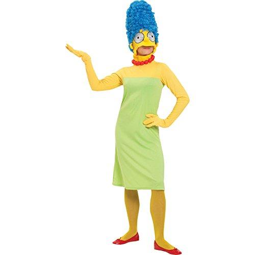 Rubie's 3 880654 M - Marge Simpson Erwachsene Deluxe Kostüm, Größe M, grün/gelb (Marge Simpson Kostüm Haar)