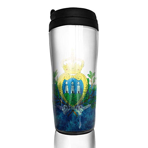 San Marino Golf (Travel Coffee Mug San Marino Flag with Forest 12 Oz Spill Proof Flip Lid Water Bottle Environmental Protection Material ABS)