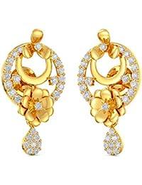 Joyalukkas 22k (916) Yellow Gold Stud Earrings for Girls