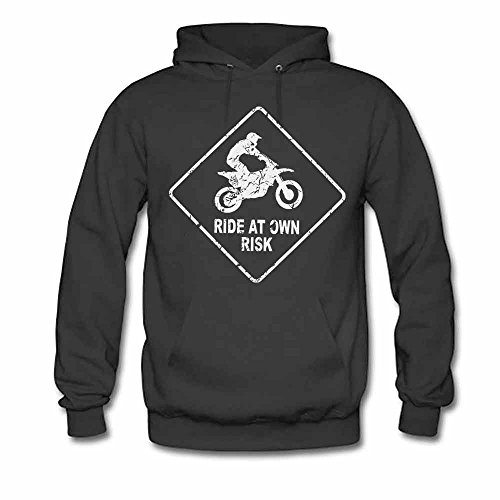 Women's Motorcycle Ride at Own Risk Soft Cotton Hoodies XXL