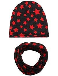 Hosaire Set Bufandas Conjunto Cuello Patrón de Pentagrama Invierno Niño  Niña Sombreros Algodón Hecho Lindo del… 939fee923af