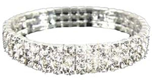 gorgeous-3-row-diamante-crystal-stretch-bracelet