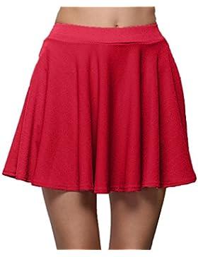 QinMM Falda Corta Plisado para Mujer, Falda Casual de Verano con Cintura Alta