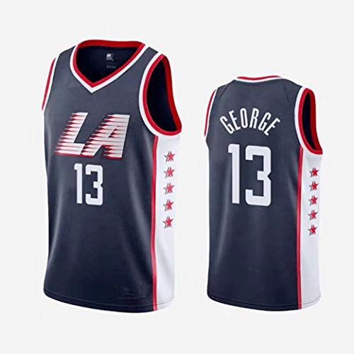 Aojing NBA Clippers 13 Paul George Los Angeles Unisex Sleeveless T-Shirt Basketball-Trikot NBA Swingman Jersey City Version (Color : City Version, Size : XL)