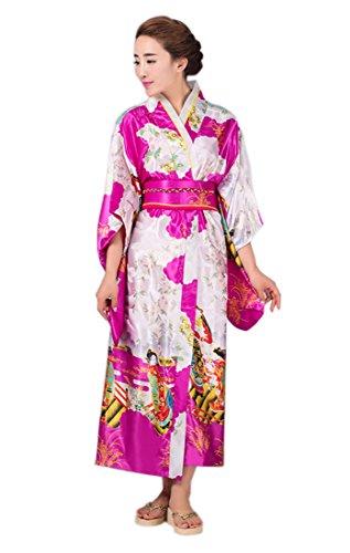 YueLian Kimono Costume Tradizionale Giapponese, Unica Taglia, 8 Colori Rosa