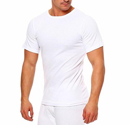 Thermohemd ○ Thermounterwäsche Extrem Warm ○ Hemd Shirt Herren T-Shirts Langarm Kurzarm ○ Hemd Männer Unterhemden ○ Thermounterwäsche Herren von SGS (XXL, Weiß)