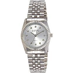 August Steiner Damen Diamant Edelstahl Armband Uhr