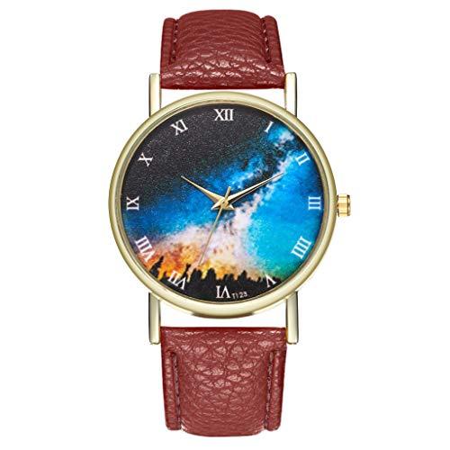 Preisvergleich Produktbild Tohole Damenuhr armbanduhr Damenuhren Strap Watch Damen Geschenke UhrenArmband Strap mit Edelstahl Schließe in Rose-Gold uhr damen uhr herrenuhren uhr uhren damen(Kaffee, One size)
