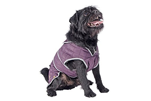 Ancol Muddy Paws Damson Barker Quilted Jacket, Small