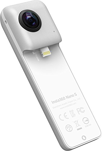 insta360 Nano S Action Camera 360 grados Compatible con iPhone, vídeo 4 K, Plata