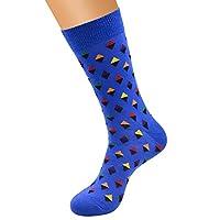 FHCGWZ 5pcs/set Men Unisex Women Funny Happy Socks Personality Diamond Pattern Design Long Tube Geometric Combed Cotton Trendy Socks