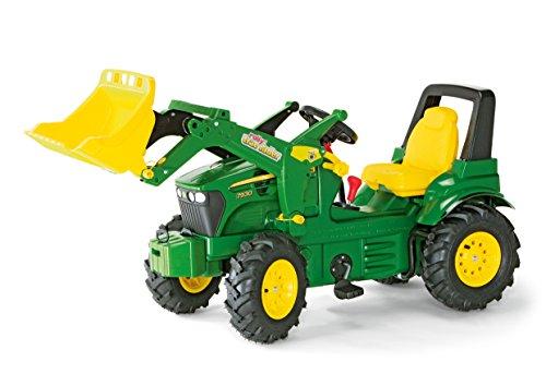 710126 rollyFarmtrac John Deere 7930 | Traktor mit abnehmbarem Lader | Trettraktor mit 2-Gangschaltung und Bremse, Luftbereifung; Sitzverstellung | ab 3 Jahren | Farbe grün