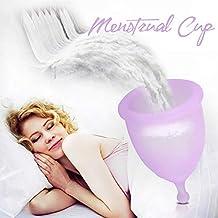 Donix Copa Menstrual Copa Luna de Silicona Médico de Higiene Femenina Salud Alternativa Natural a los Tampones y Compresas con Bolsa de Regalo y Caja para Mujer de 25 Año Edad(Púrpura)
