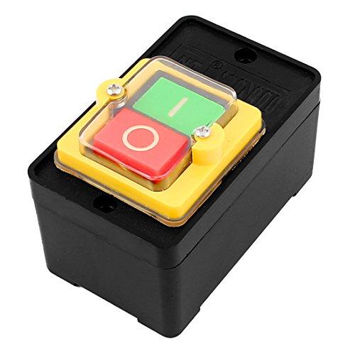 sourcingmap® Ersatz EIN/AUS Selbstverriegelung Leistung Drucktaster Schalter AC 220V 380V 10A de -
