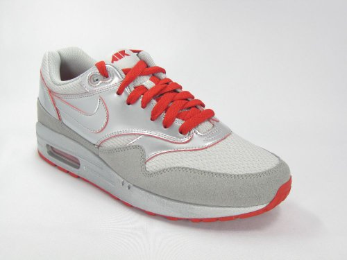 Nike Air max 1 308866008, Baskets Mode Homme Gris et rouge