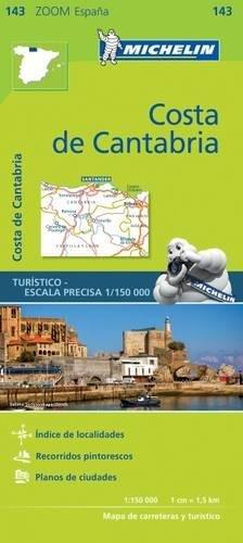 Mapa Zoom Costa de Cantabria (Mapas Zoom Michelin) por Vv.Aa