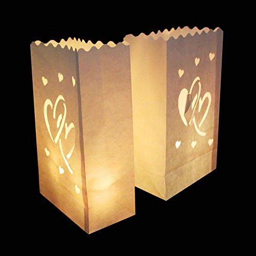 httüte Deko Licht Tüte Teelicht Kerze Taschen Candle Bags für Hochzeit Party Dekoration (#2) ()