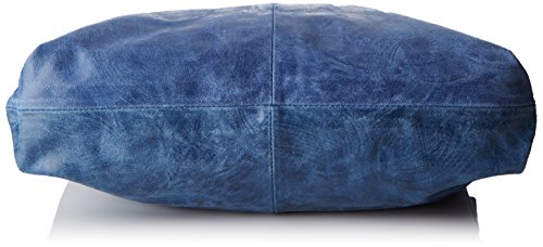 Chicca Borse 80053, Borsa a Tracolla Donna, 46 x 26 x 10 cm (W x H x L) Blu (Blu Jeans)