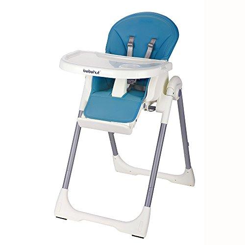 BEBEHUT® Kinderhochstuhl Babyhochstuhl Kinderstuhl Babystuhl Hochstuhl verstellbar 1801-D02 Sky Blue