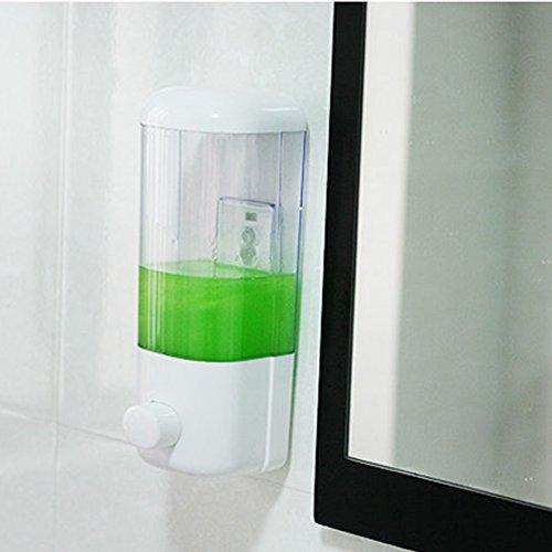 LNIMIKIY Dispensador de jabón, Bomba para Montar en la Pared para Lavabo, 500/1000 ml, Gel de loción Corporal, champú único y Doble (500 ml)