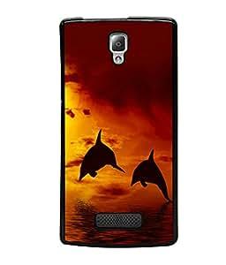 printtech Fish Dolphin Sea Back Case Cover for Lenovo A2010