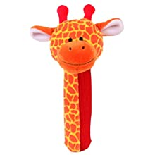Giraffe Rattle and Squeaker Squeakaboo Toy