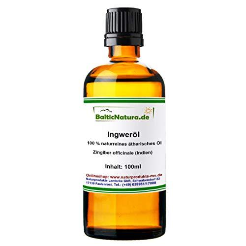 Ingweröl (100 ml) 100% naturreines ätherisches Ingwer Öl