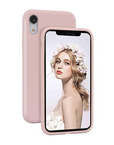 Imikoko Hülle für iPhone XR Hülle Matt Silikon Dünn Handyhülle Stoßfest Slim Gummi Schutzhülle Kratzfest Case Cover mit Soft Microfaser Tuch Futter Kissen() -