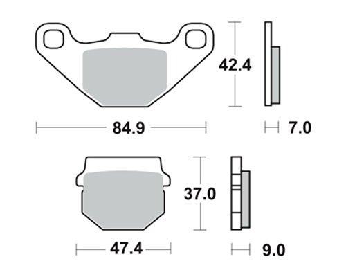 Pastiglie dei freni TRW MCB519SI per Peugeot 50 Kisbee RS 10- (anteriore)